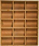 Rectángulo de madera antiguo Fotos de archivo