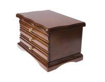 Rectángulo de madera de cajones en la joyería Fotografía de archivo libre de regalías