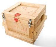 Rectángulo de madera del poste Fotos de archivo libres de regalías