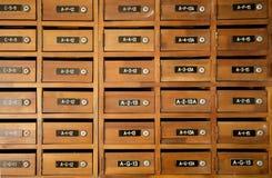 Rectángulo de madera tradicional del poste Fotografía de archivo libre de regalías