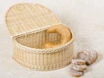 Rectángulo de mimbre del pan Fotos de archivo libres de regalías