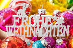 Rectángulo de ornamentos de la Navidad Fotografía de archivo libre de regalías