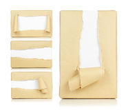 Rectángulo de papel rasgado Fotos de archivo