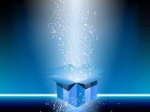 Rectángulo de regalo azul stock de ilustración