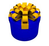 Rectángulo de regalo azul Imagen de archivo libre de regalías