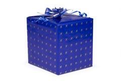 Rectángulo de regalo azul Fotos de archivo libres de regalías