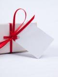 Rectángulo de regalo blanco imagenes de archivo