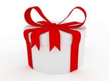 Rectángulo de regalo blanco Fotografía de archivo