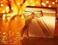 Rectángulo de regalo blanco Fotografía de archivo libre de regalías