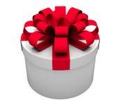 Rectángulo de regalo blanco Imagen de archivo