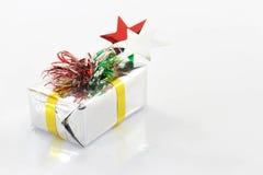 Rectángulo de regalo blanco Imágenes de archivo libres de regalías