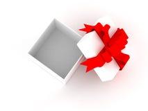 Rectángulo de regalo blanco. stock de ilustración