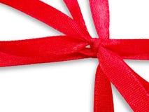 Rectángulo de regalo blanco con la cinta roja Imagen de archivo