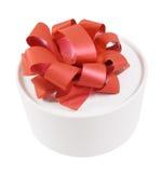 Rectángulo de regalo blanco redondo Foto de archivo