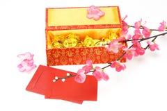 Rectángulo de regalo chino del Año Nuevo Fotografía de archivo