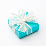 Rectángulo de regalo ciánico Fotos de archivo
