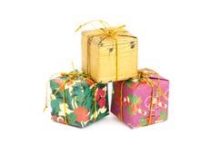Rectángulo de regalo colorido Fotos de archivo libres de regalías
