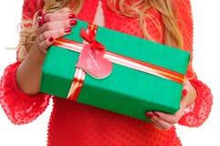 Rectángulo de regalo con el corazón Imagen de archivo libre de regalías