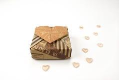 Rectángulo de regalo con el corazón Foto de archivo libre de regalías