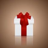 Rectángulo de regalo con la cinta y el arqueamiento Ilustración del vector Fotografía de archivo