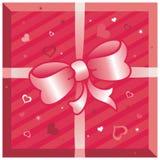 Rectángulo de regalo con los corazones libre illustration