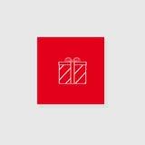 Rectángulo de regalo con un arqueamiento Imagenes de archivo