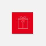 Rectángulo de regalo con un arqueamiento Fotografía de archivo