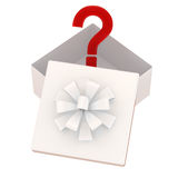 Rectángulo de regalo con una sorpresa Imagen de archivo libre de regalías