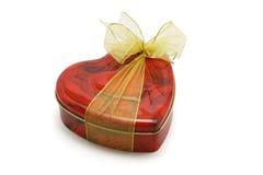Rectángulo de regalo de la dimensión de una variable del corazón de galletas imagen de archivo