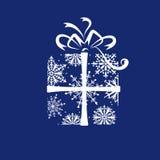 Rectángulo de regalo de la Navidad Fotografía de archivo