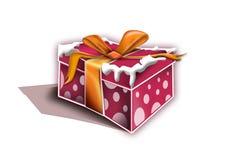 Rectángulo de regalo de la Navidad Imagen de archivo libre de regalías