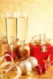 Rectángulo de regalo de la Navidad Fotos de archivo libres de regalías