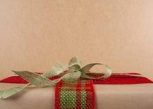Rectángulo de regalo de la Navidad Foto de archivo libre de regalías