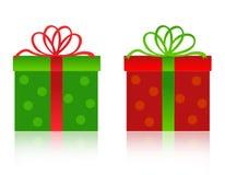 Rectángulo de regalo de la Navidad stock de ilustración