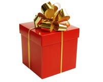 Rectángulo de regalo de la Navidad Imagenes de archivo