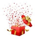 Rectángulo de regalo de la sorpresa Imágenes de archivo libres de regalías