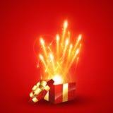 Rectángulo de regalo de la sorpresa Imagenes de archivo