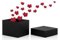 Rectángulo de regalo de la tarjeta del día de San Valentín Fotos de archivo libres de regalías
