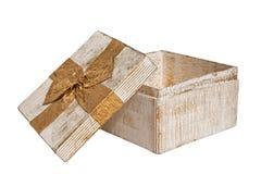 Rectángulo de regalo de la vendimia Fotos de archivo libres de regalías