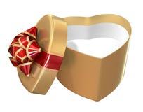 Rectángulo de regalo de las tarjetas del día de San Valentín Imagen de archivo libre de regalías