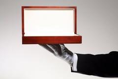 Rectángulo de regalo de madera de lujo Imagen de archivo libre de regalías
