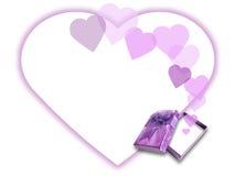 Rectángulo de regalo del amor stock de ilustración
