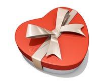 Rectángulo de regalo del corazón de la tarjeta del día de San Valentín Fotos de archivo libres de regalías