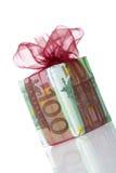 Rectángulo de regalo del euro 100 Imágenes de archivo libres de regalías