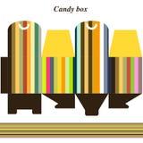 Rectángulo de regalo del modelo para el caramelo Imagen de archivo