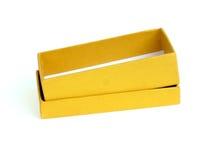 Rectángulo de regalo del oro Fotografía de archivo libre de regalías