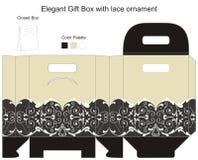 Rectángulo de regalo elegante stock de ilustración