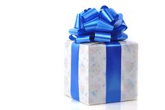 Rectángulo de regalo en blanco Foto de archivo libre de regalías