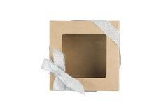 Rectángulo de regalo en el fondo blanco Imagenes de archivo