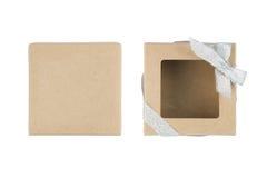 Rectángulo de regalo en el fondo blanco Imagen de archivo